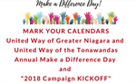 26th Annual Make a Difference Day and Campaign Kick-Off