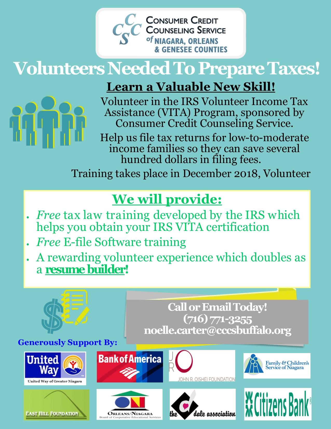 United Way Of Greater Niagara Volunteer Become A Vita Volunteer