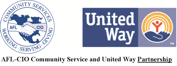 United Way Labor logo and partnership graphic
